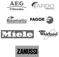 loga AEG, ARDO, Fagor, Baumatic, Miele, Whirlpool a Zanussi